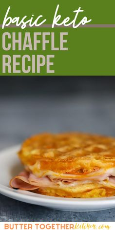 The keto chaffle recipe from Butter Together Kitchen is an amazing keto recipe! Easy to make and delicious when used for a sandwich! Keto chaffle is a delicious substitute for regular breads. This keto bread replacement is so delicious! #ketochaffle #recipes #keto #ketobread #healthy #healthyrecipe How To Make Sandwich, Best Sandwich, Healthy Eating Recipes, Keto Recipes, Bread Replacement, Keto Taco, Chicken And Waffles, Keto Bread, Other Recipes