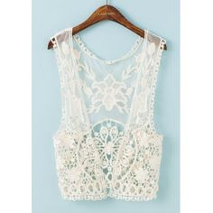 Bohemian Sleeveless Embroidered Solid Color Women's Tank Top (OFF-WHITE,ONE SIZE(FIT SIZE XS TO M)) in Cover-Ups | DressLily.com