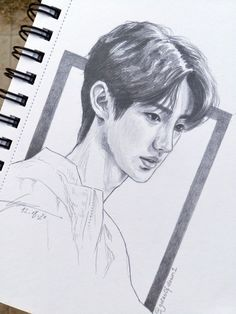 Kpop Drawings, Easy Drawings, Pencil Drawings, Portrait Sketches, Drawing Sketches, Drawing Reference Poses, Art Reference, Fanart, Cute Cartoon Wallpapers