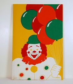 """Poison gas filled balloons anyone?"" Marushka Vintage Clown by CheekyVintageCloset on Etsy, $54.00"