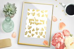 This real gold foil print is the perfect way to show your love this Valentine's Day. Also adds a beautiful touch to your home decor! Find it here https://www.etsy.com/listing/503843569/