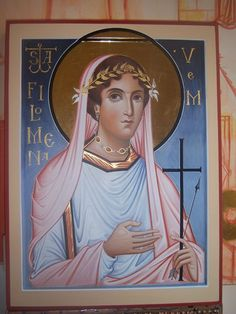 Philomena the Martyr of San Severino near Ancona by Ivan Polverari - July 5 Byzantine Icons, Byzantine Art, Religious Icons, Religious Art, Saint Philomena, Russian Icons, Religious Paintings, Best Icons, Icon Collection