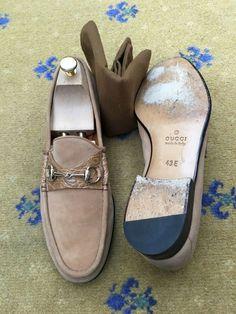 7afe21dde7f1 eBay  Sponsored Gucci Mens Shoes Tan Brown Suede Horsebit Loafers Moc Croc  UK 9 US 10 EU 43. Men s Shoes
