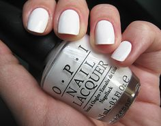 On my nails now! OPI Alpine Snow.