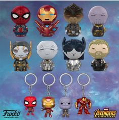 Funko Funko has created quite the collection of POPVinyls, Mystery Minis, and Dorbz for Avengers: Infinity War . Ac Dc, Dragon Ball Z, Funko Pop Toys, Naruto, Black Order, Figurine Pop, Mystery Minis, Batman, Avengers Movies
