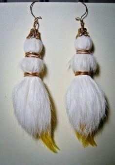 RECYCLED fur earrings by Aeryn Kae