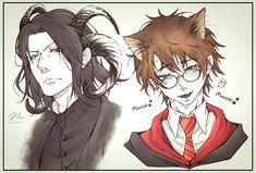 Fanart Harry Potter, Harry Potter Ships, Harry Potter Universal, Harry Potter Fandom, Harry Potter Severus Snape, Severus Rogue, Draco Malfoy, Slytherin, Hogwarts