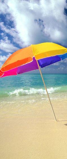 Beach Umbrella ready for the sun and fun! Padre Island lets gooooo