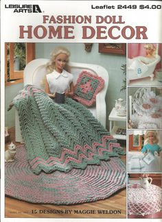 Crochet Pattern Fashion Doll Home Decor Fashion Doll Afghan Barbie Doll