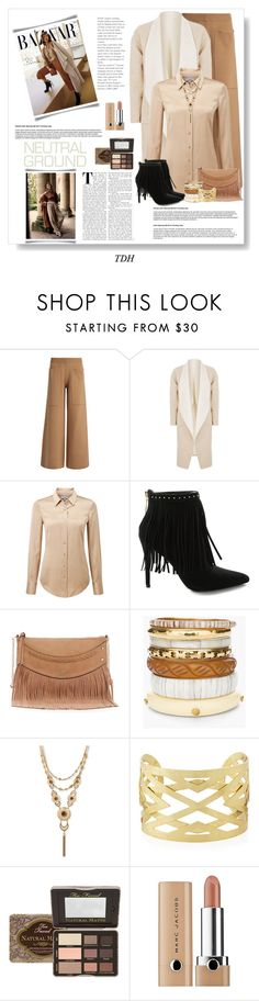 """Cool Neutrals"" by talvadh ❤ liked on Polyvore featuring Joseph, malo, Pure Collection, Pierre Balmain, GUESS, Chico's, Lucky Brand, Panacea, Too Faced Cosmetics and neutrals"