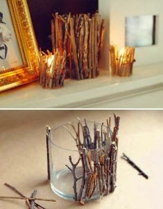 DIY Candle votives with sticks
