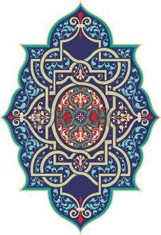 Oriental ornament vector design, Colored