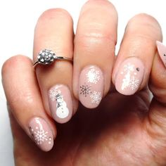 Lacquered Lawyer   Nail Art Blog: Snowflakes and Snowmen