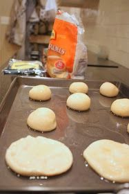 Cooking On Clover Lane: Frozen Dinner Roll Pizzas