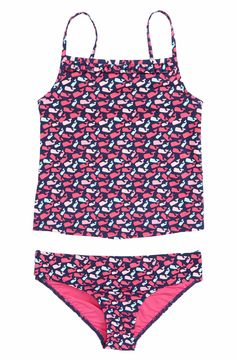 db76713d54 vineyard vines Scattered Whale Two-Piece Tankini Swimsuit (Toddler Girls,  Little Girls & Big Girls) | Nordstrom