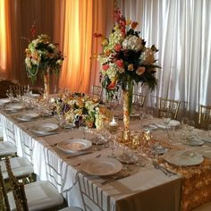 #goldreception colors are Elegant and perfect for your tablescape.  at Legacy Weddings, Lake Lanier Islands Resort