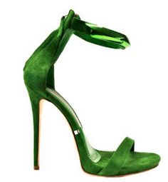Gianmarco Lorenzi Green 'Jodyn' Sandals Spring 2014 #GML #Lorenzis #Shoes #Heels