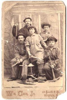 Miners-both men & women Virginia City Nevada CC by Noe
