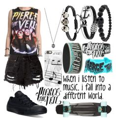"""""""Pierce The Veil"""" by musiclover135 ❤ liked on Polyvore featuring Converse, Gucci, David Yurman, Alexander McQueen and Casetify"""