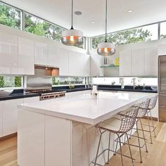 Modern Kitchen Interior Light up any space in modern Nordic style with this stunning hanging glass pendant light! Made from premium iron Home Decor Kitchen, Kitchen Interior, New Kitchen, Awesome Kitchen, Kitchen Ideas, Above Kitchen Cabinets, Kitchen Shelves, Clerestory Windows, Skylights