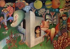 Carnaval, por Natalia Jankowski Tapas, Illustration, Painting, Art, Mardi Gras, Buenos Aires Argentina, Colors, Art Background, Illustrations