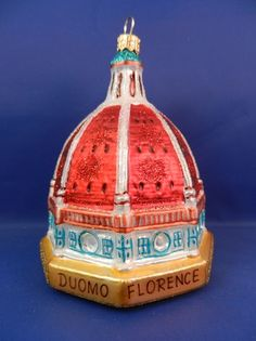 Florence, Italy Basilica Duomo Santa Maria blown glass Christmas ornament