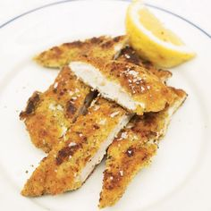 Jamie Oliver's Crunchy Garlic Chicken ~ This crumbing technique is so versatile — you can cook pork or even cod in exactly the same way. As there is butter in the crumb mixture, you can grill, fry, roast, or bake the meat dry in the oven and it will go lovely and golden.
