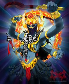 at the ground level of the cults of Bhairava and Kali the Tantric deities . Kali Tattoo, Tattoo Art, Kali Shiva, Kali Mata, Goddess Art, Female Hero, Tribal Belly Dance, Found Art, Tribal Fusion