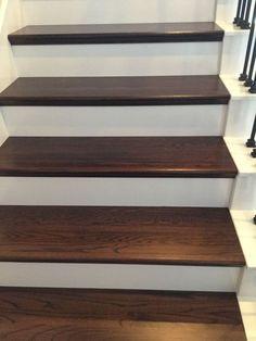 DIY Wood Plank Stairs