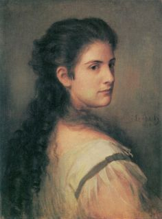 Portrait of Anna Schubart - Franz von Lenbach (german painter)