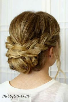 1. Long hair upstyle with braids #UpdosLongHair
