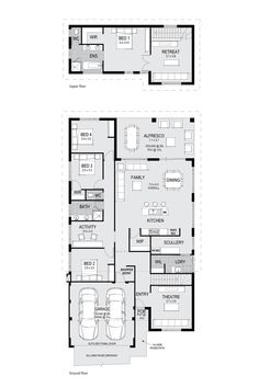 The Valencia - Two Storey display home - Floor Plan Only at Home Group WA.