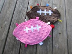 Hey, I found this really awesome Etsy listing at https://www.etsy.com/listing/168635212/football-shaped-minky-lovie-crinkle
