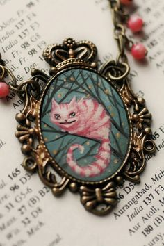 The Cheshire Cat - from the Alice Collection- original cameo by Mab Graves