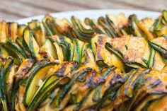 Grilled Zucchini Ribbons with Sriracha Marinade | The Greedy Vegan