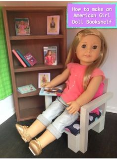 American Girl Doll Book Shelf Tutorial
