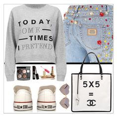 """"""".... Sporty!!!"""" by simona-altobelli ❤ liked on Polyvore featuring Dolce&Gabbana, Cheap Monday, Converse, Chanel, Wildfox, sporty and sportystyle"""