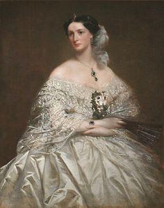 Portrait of Miss Mansell, mid-19th cent. Richard Buckner (English, 1812-1883), oil on canvas, mid 19th century,