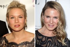 aww  :(  Renée Zellweger in 2008 (left) and in 2014 (right).