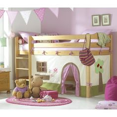 I want to do this in Sophie's room when we get the new house, but have the under part be a closet, because her room has no closet