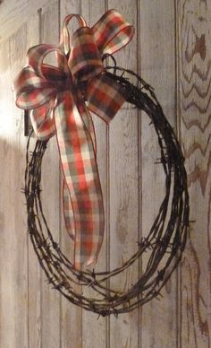 Rusty BARBED WIRE Country  Check Bow coiled by WoodsorrelDixie, $20.00