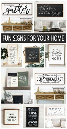 Fun Wood Signs for your Home! Love the look of homemade wood signs as part of my home decor. Fun Wood Signs for your Home! Love the look of homemade wood signs as part of my home decor. Wood Signs For Home, Diy Wood Signs, Vinyl Signs, Home Decor Signs, Diy Home Decor, Rustic Wood Signs, Signs For Kitchen, Stencils For Wood Signs, Wood Signs Sayings