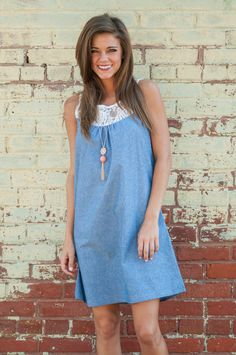 """Smile In Your Lace Dress, Chambray"""