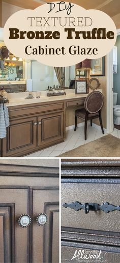 Repaint your kitchen cabinets with this gorgeous finish.This finish is perfect on cabinets, a bar, furniture pieces, columns, a fireplace mantle…. and could be done in a variety of colors. But for the video, I showed you BRONZE. And it's a beauuuuuuutiful, sultry bronze color. It goes with many decors and this is an easy finish that anyone can do! Painting tips from TheMagicBrushinc.com