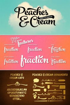 Peaches and Cream, a bold brush style script font family created by Emil Karl Bertell of Fenotype.