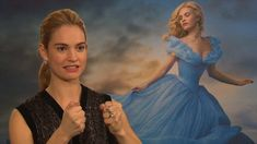 Yes, Lily James, you SHALL go to the ball! Swooning Cinderella fans say it's the most breathtaking cinema gown ever. Now its fairy godmother designer reveals how she wove her magic Cinderella Blue Dress, Cinderella Ballgown, Cinderella 2015, 15 Dresses, Blue Dresses, Sandy Powell, Richard Madden, Lily James, Looks Chic
