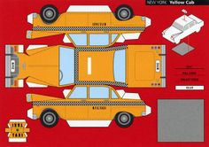 All sizes | Make City, New York, Yellow Cab - Cut Out Postcard | Flickr - Photo Sharing!