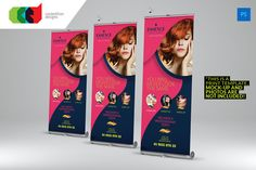 Check out Beauty Care - Roll-Up Banner by Cooledition on Creative Market