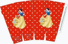 Free Printable Pop Corn Box of Snow White.