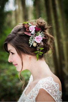 wedding flowers hair